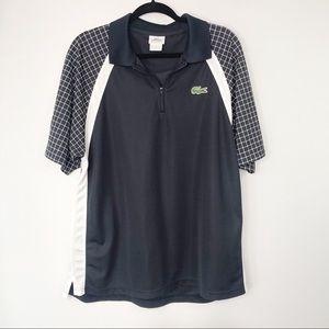Lacoste Big Alligator Navy/White Sport Polo Shirt